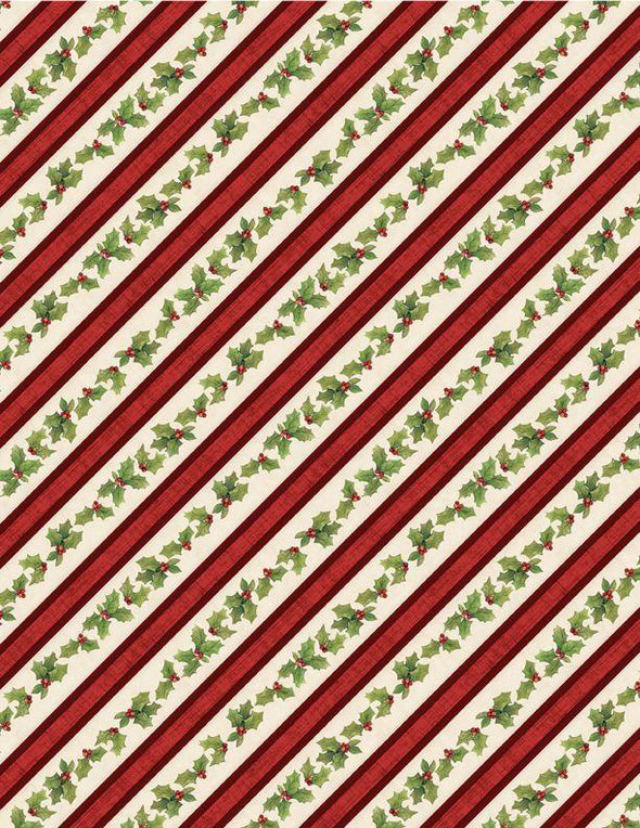 Wilmington Prints - Christmas Holly Ribbon - Evergreen Farm