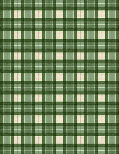 Wilmington Prints - Christmas Plaid (Green) - Evergreen Farm