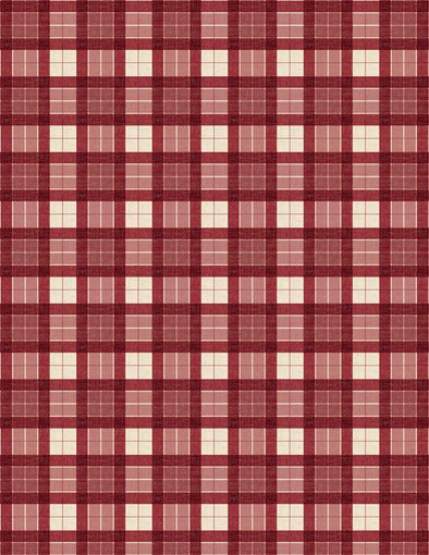 Wilmington Prints - Christmas Plaid (Red) - Evergreen Farm