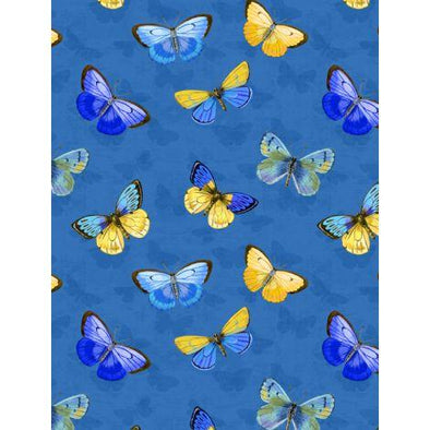 Wilmington Prints Madison - Butterflies   Blue