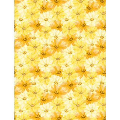 Wilmington Prints Madison - Packed Daisies   Yellow