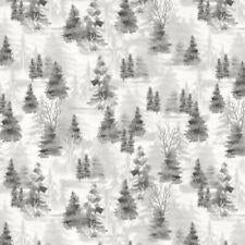 Wilmington Prints Woodland Friends - Grey Shadow Trees