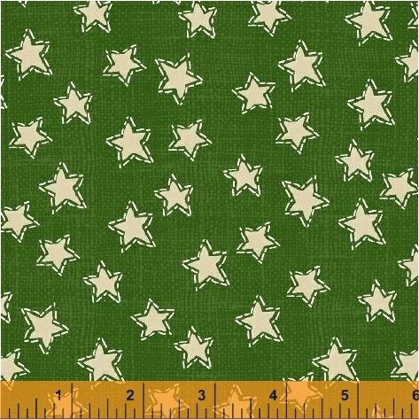 Windham Fabrics Craft Paper Christmas Stars Green