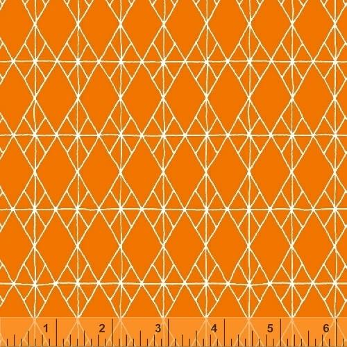 Windham Fabrics Foundation Diamond Attached Orange