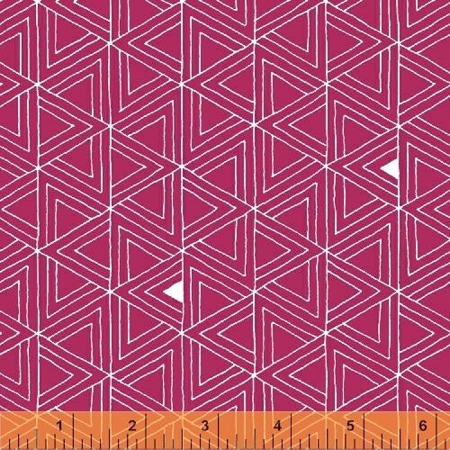 Windham Fabrics Foundation Layered Triangles Pink