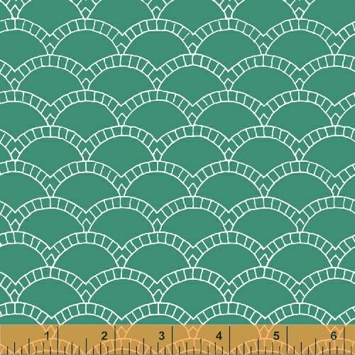 Windham Fabrics Foundation Scallops Green