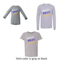 Bobcats Stacked - Infant, Toddler, Youth - PREORDER