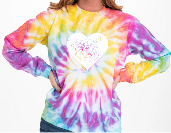 Bobcats Multicolor Tie-Dye CREWNECK - Womens ***LIMITED TIME ONLY***