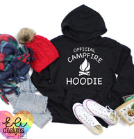 Official Campfire Hoodie - White Font
