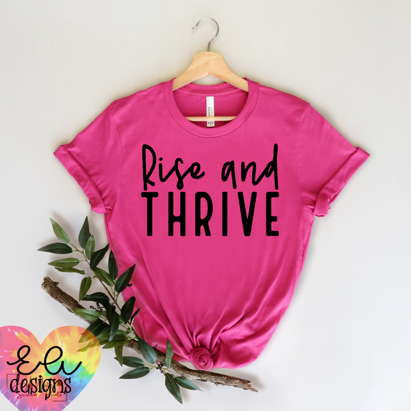 Rise and Thrive - Black Font
