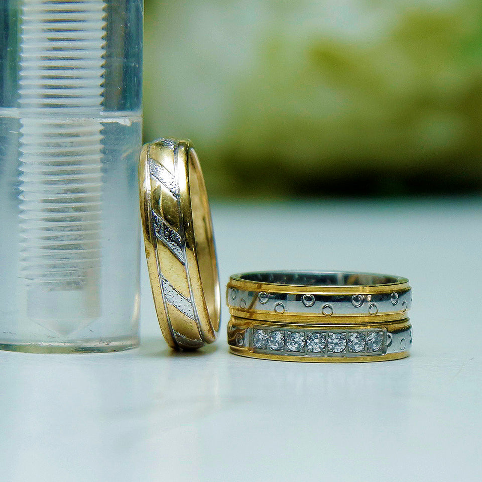 Wedding Ring Set Gold Plated
