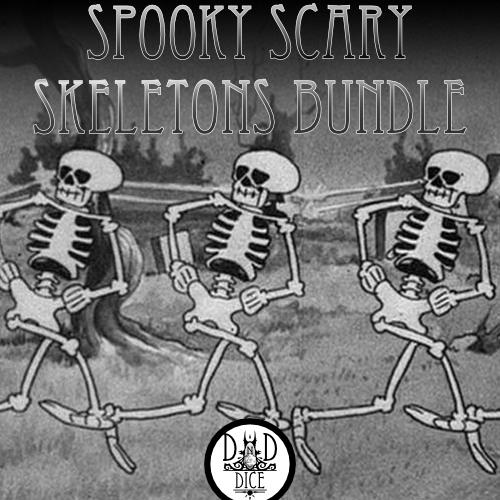 Spooky Scary Skeletons Collection (6 Sets & 2 Bags)