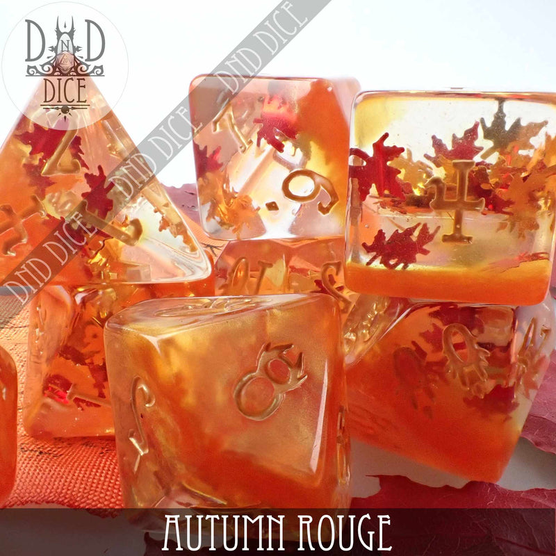 Autumn Rouge Dice Set