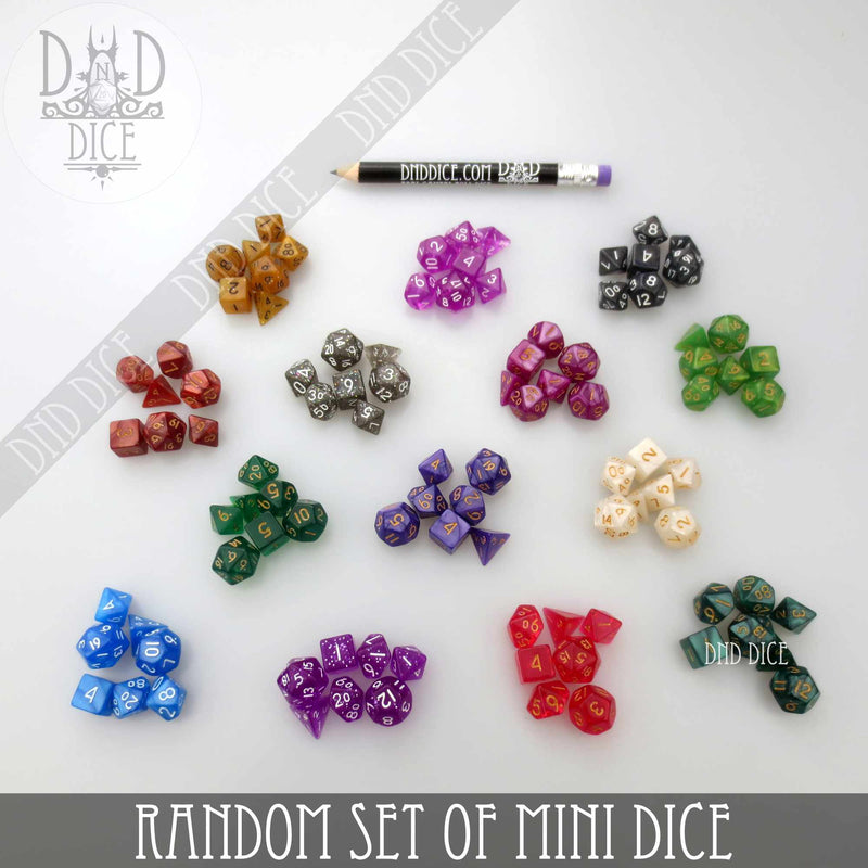 Random Set of Mini Dice (10mm)