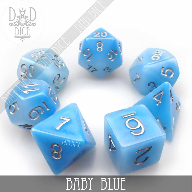 Baby Blue Dice Set