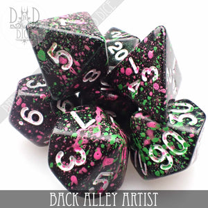 Back Alley Artist Hand-Painted Dice Set