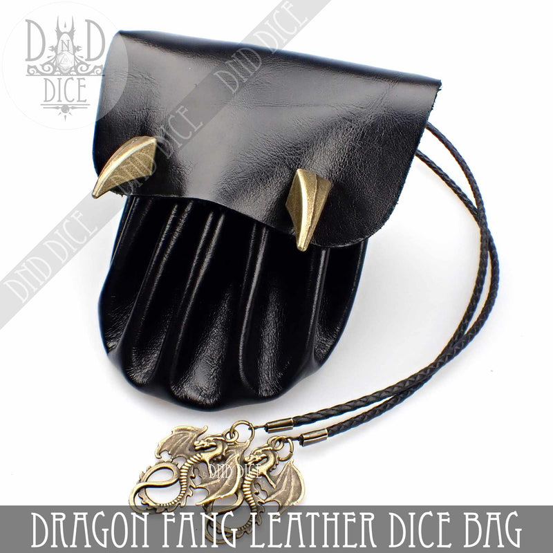 Dragon Fang Handmade Italian Leather Dice Bag / Dice Tray (5 Colors)