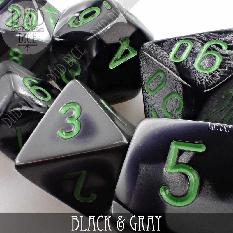 Black & Gray Dice Set