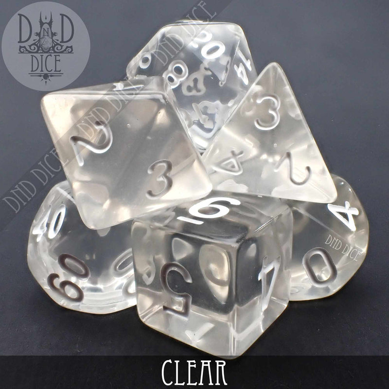 Clear Dice Set
