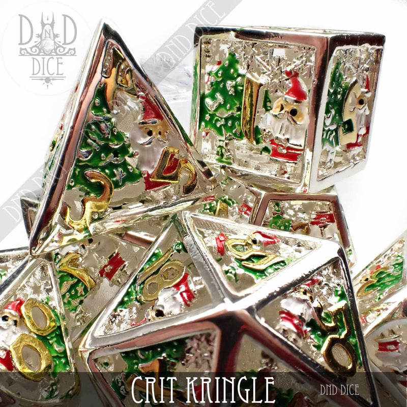Crit Kringle Hollow Metal Dice Set