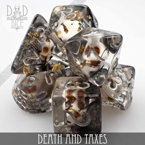 Death and Taxes Dice Set