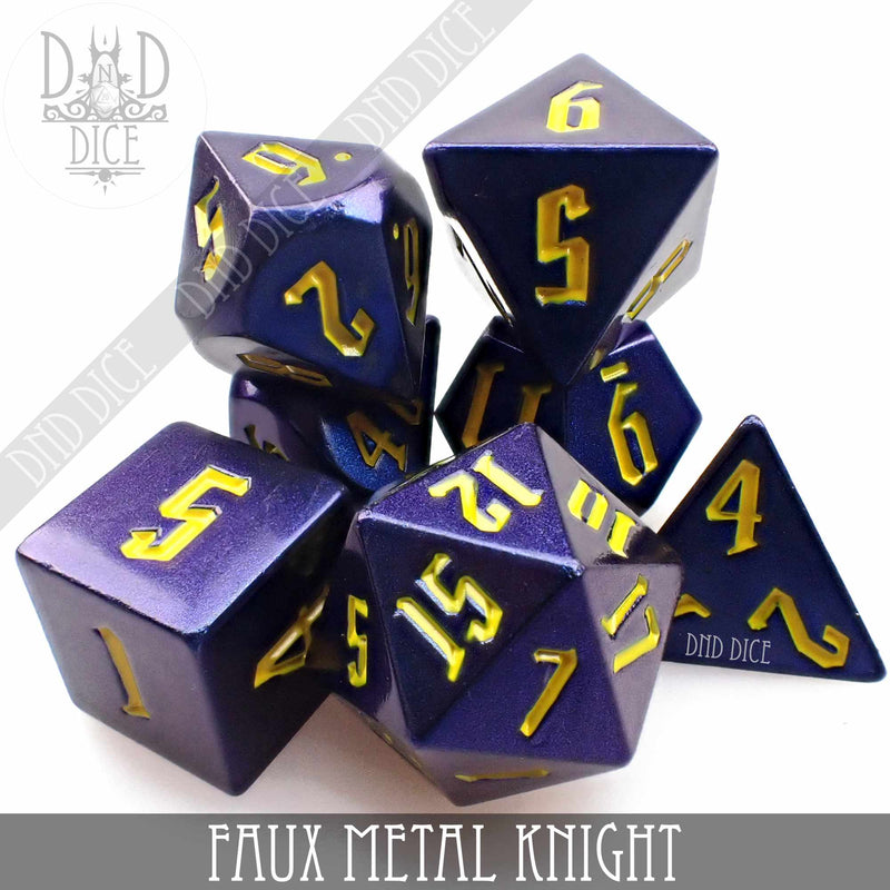 Faux Metal Knight Dice Set