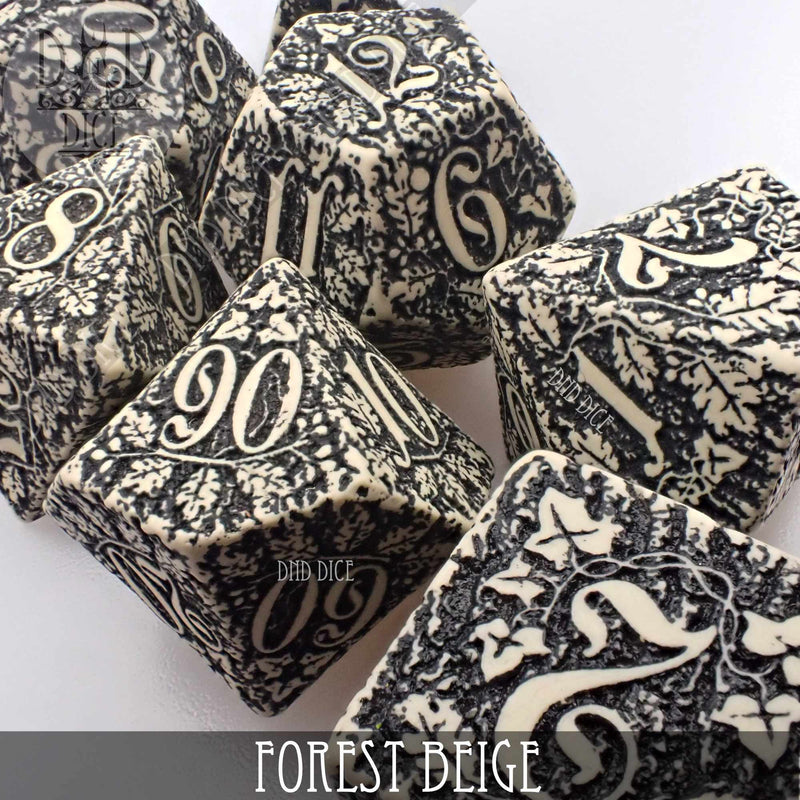 Forest Beige Dice Set