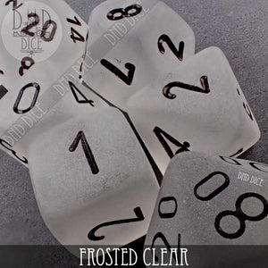Frosted Clear Dice Set