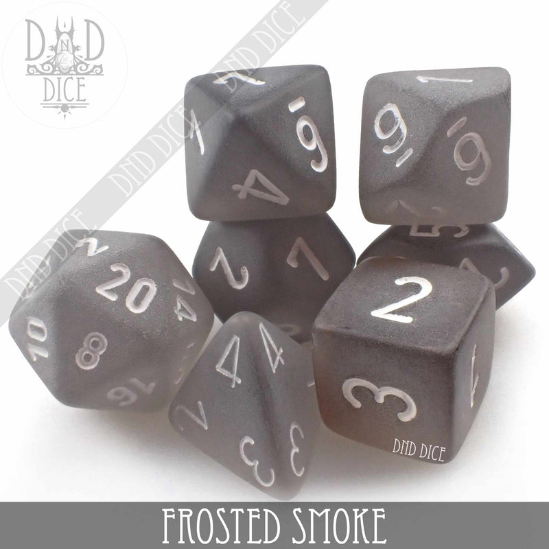 Frosted Smoke Dice Set