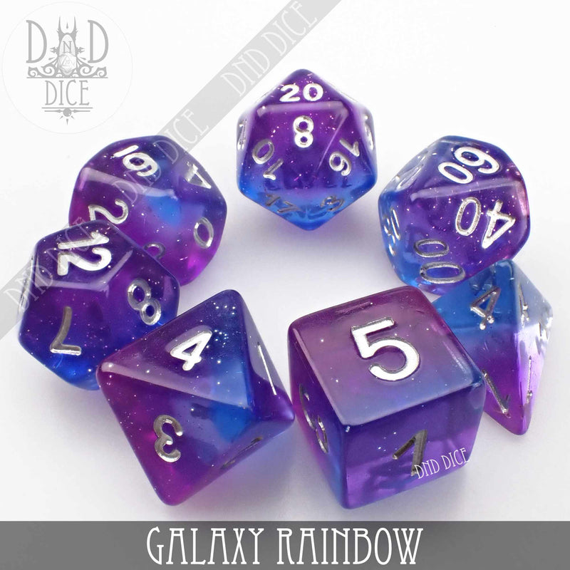 Galaxy Rainbow Dice Set