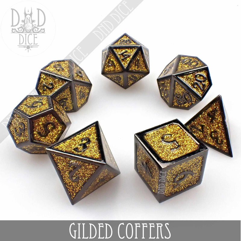 Gilded Coffers Metal Dice Set
