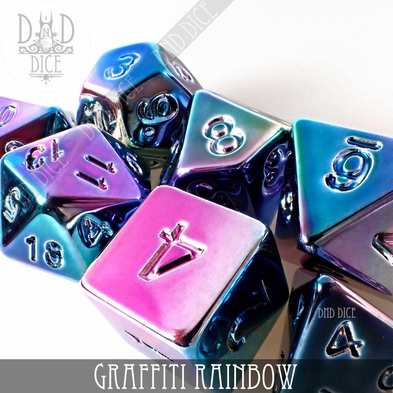Graffiti Rainbow Dice Set