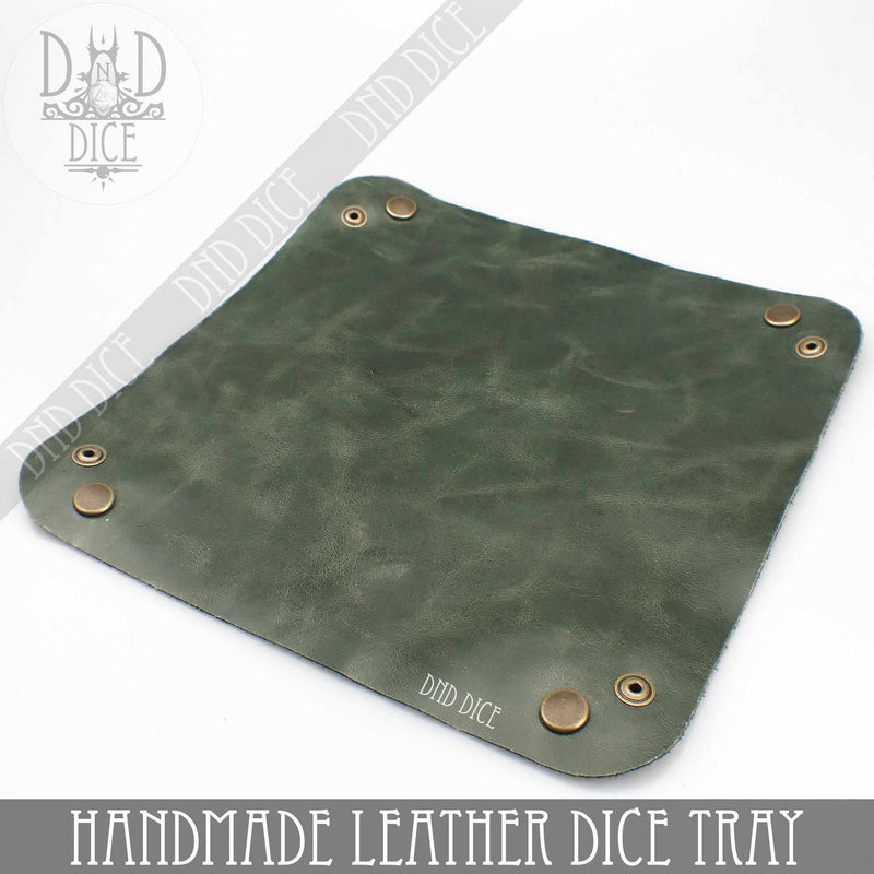 Handmade Leather Dice Tray (5 Colors)