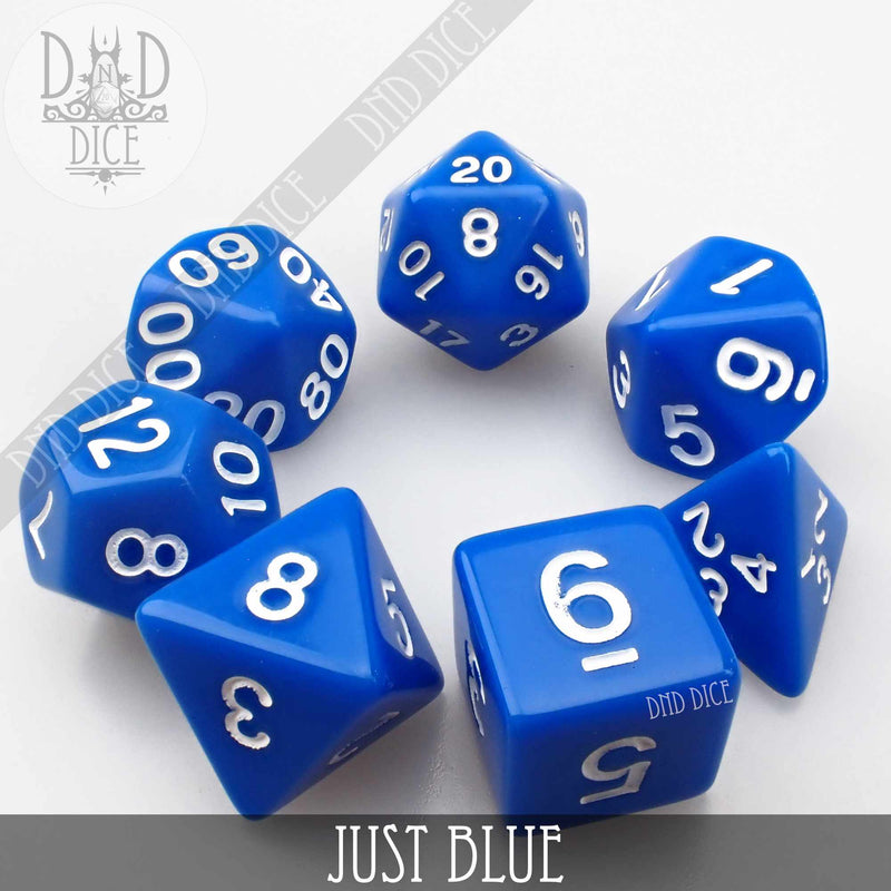 Just Blue Dice Set