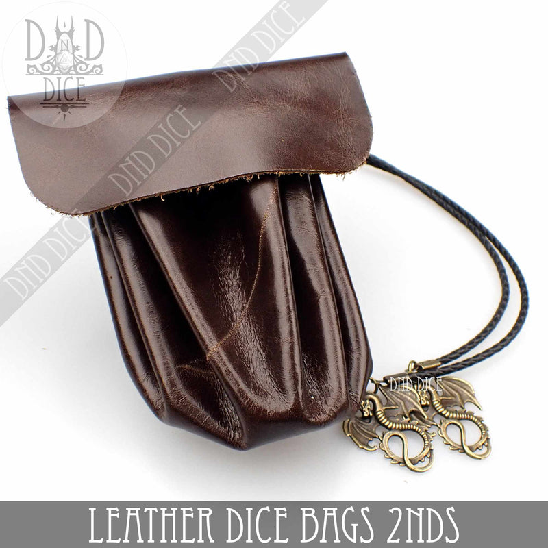 Factory 2nd Handmade Leather Dice Bags