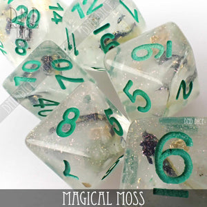 Magical Moss Dice Set