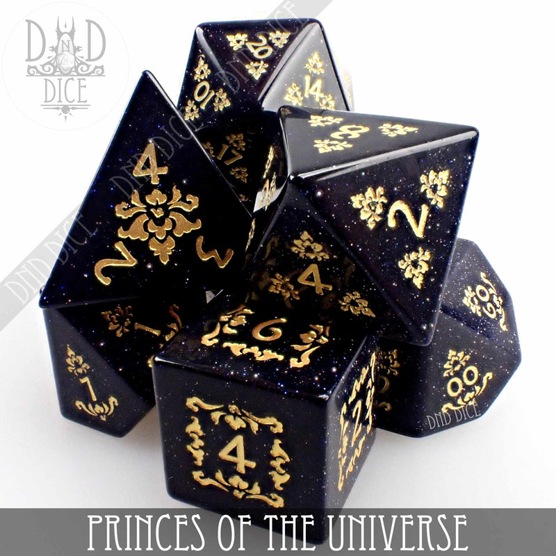 Princes of the Universe Goldstone Dice Set