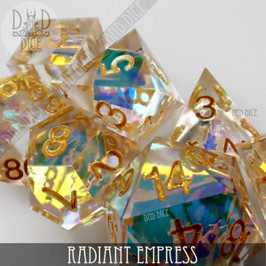 Radiant Empress Handmade Dice Set