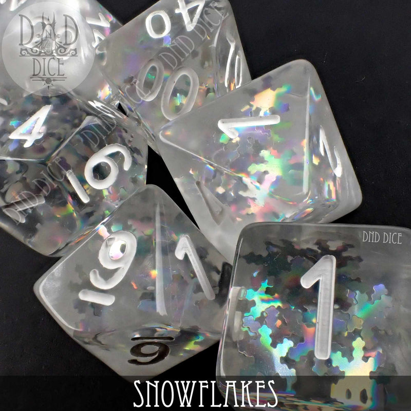 Snowflakes Dice Set