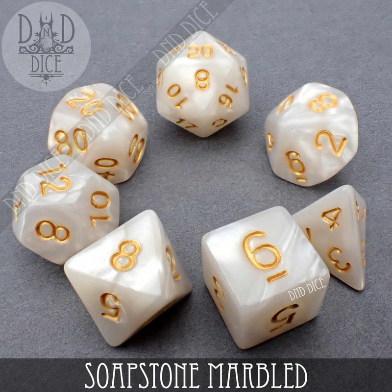 Soapstone Marbled Dice Set