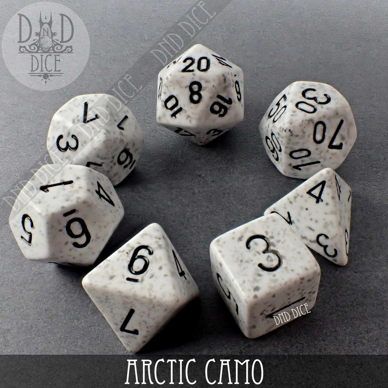 Arctic Camo Speckled Dice Set