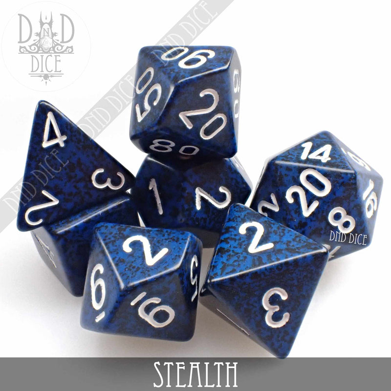 Stealth Speckled Dice Set