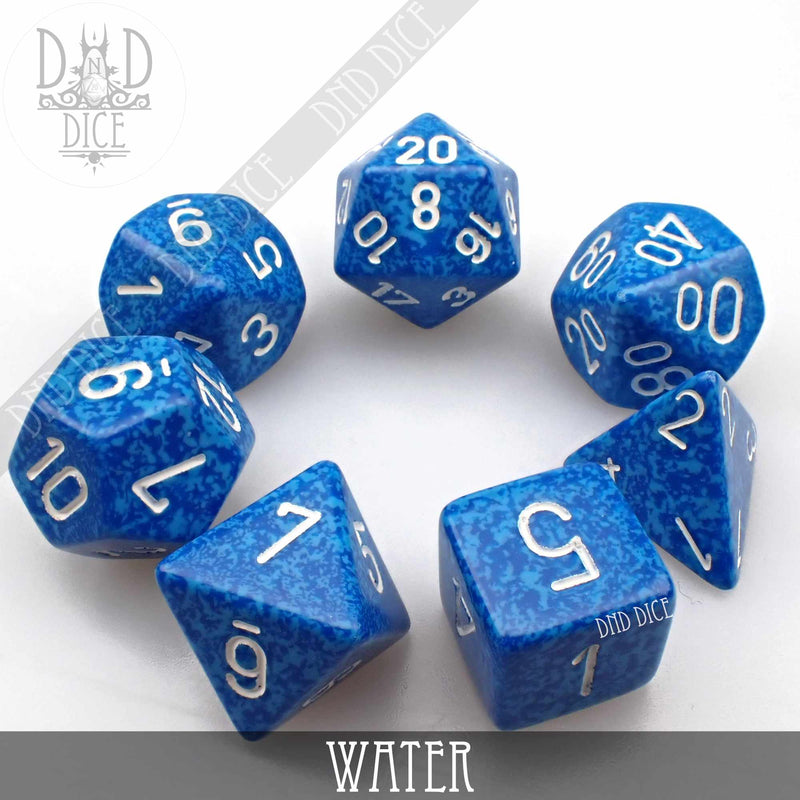 Water Speckled Dice Set