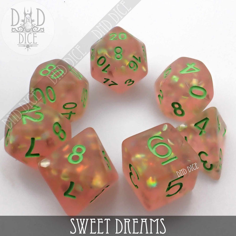 Sweet Dreams Frosted Dice Set