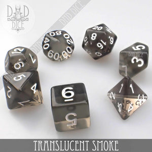 Translucent Smoke Dice Set
