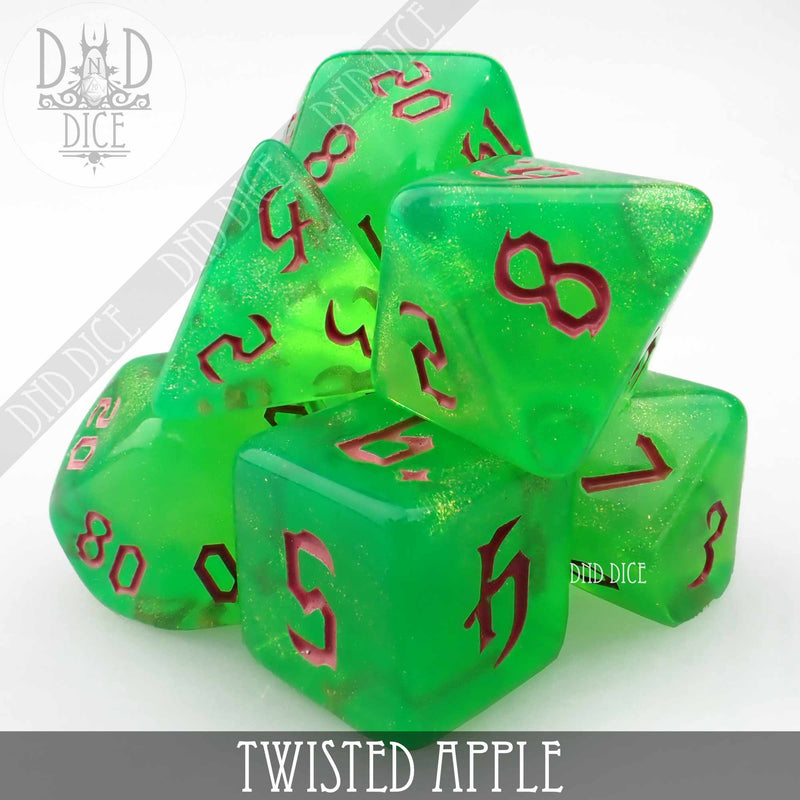 Twisted Apple Dice Set