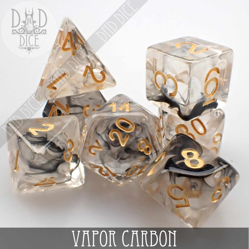 Vapor Carbon Dice Set