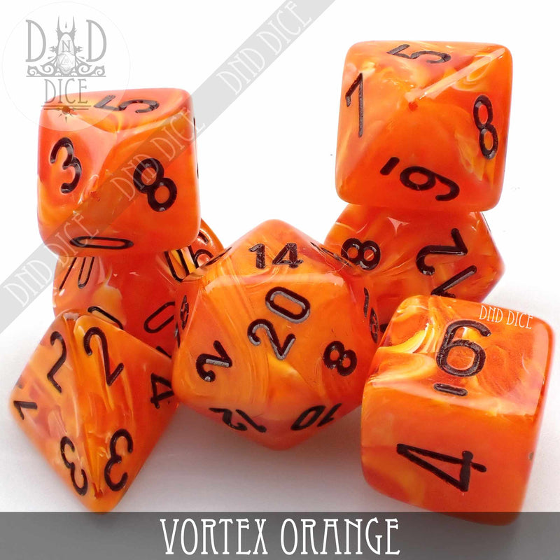 Vortex Orange Dice Set