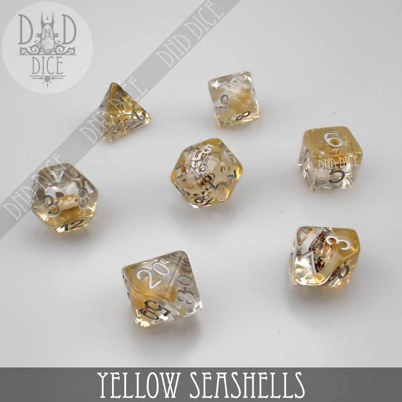 Yellow Seashells Dice Set (Limited Edition)