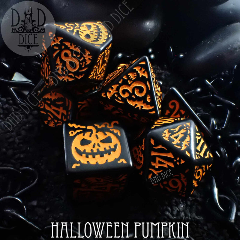 Halloween Pumpkin Dice Set